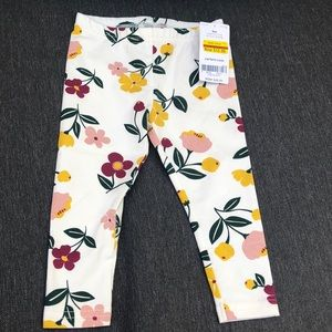 BRAND NEW! Carters floral leggings.